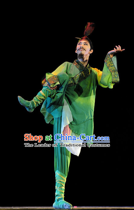 Chinese Classical Male Costume Dance Hanfu Dresses
