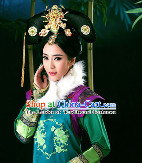 Ancient Chinese Queen Wigs and Hair Accessories Set