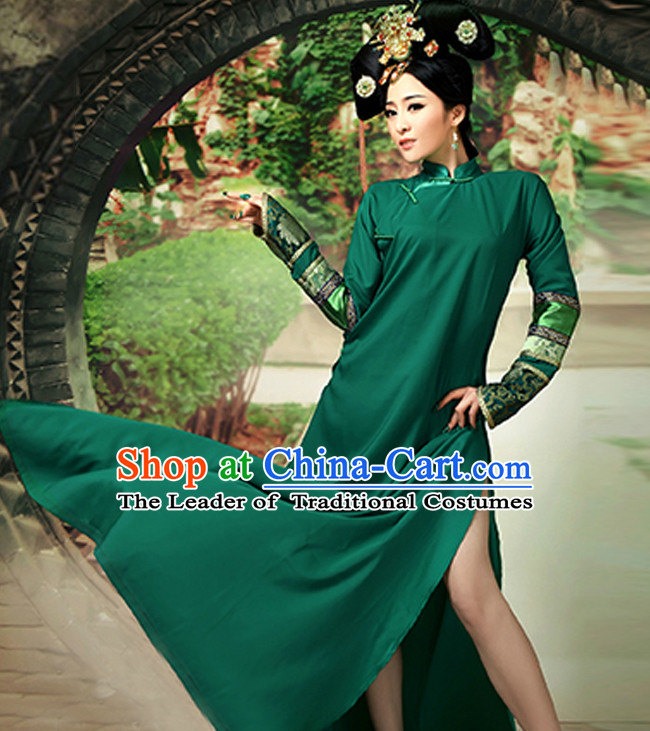 Manchu Traditional Long Shirt for WOMEN