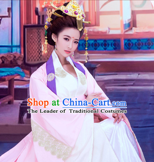 China Asian Fashion Princess Hanfu Dresses and Hair Jewelry Complete Set