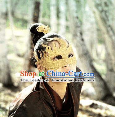 Ancient Chinese Swordsman Mysterious Golden Mask