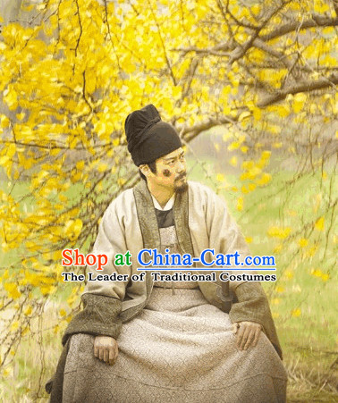Tang Dynasty Male Outfits and Hat Complete Set for Men
