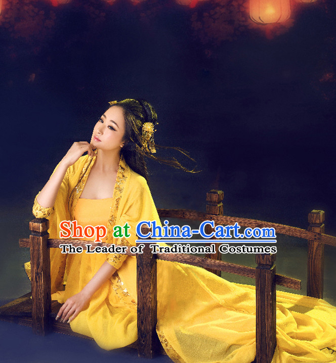 Ancient Chinese Tang Dynasty Hanfu Clothes for Women