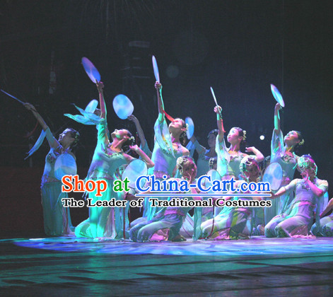 Rain Flower Dance Costume Yu Zhong Hua Beijing Dance Academy Version and Hair Accessories Complete Set