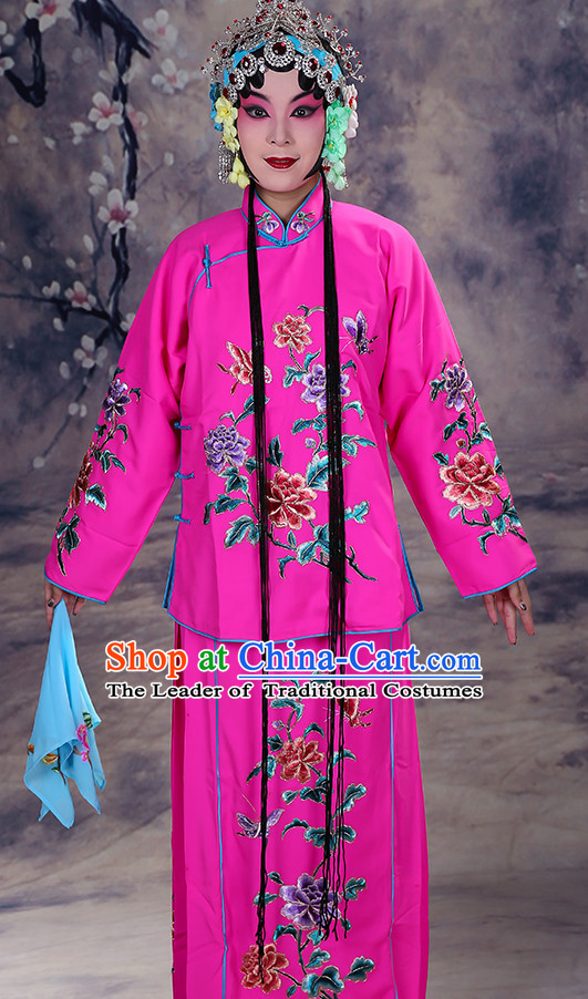 Ancient Chinese Hua Dan Opera Costume and Hair Piece Complete Set for Women