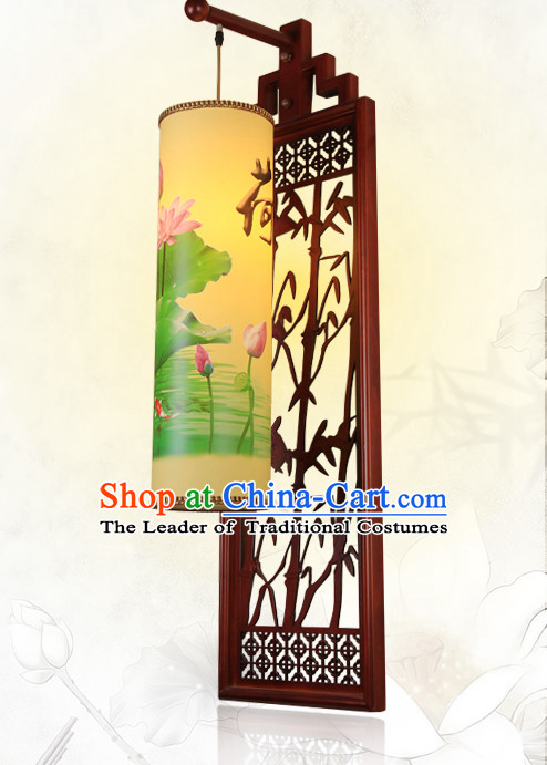 1 Meter Long Ancient Chinese Handmade Wooden Wall Lantern