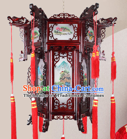 Chinese Traditional Handmade Natural Wood Palace Lantern