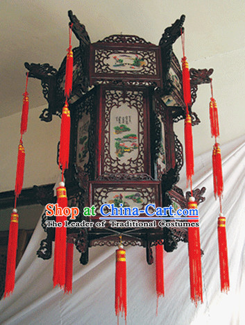 Chinese Classical Handmade and Carved Hanging Palace Lantern