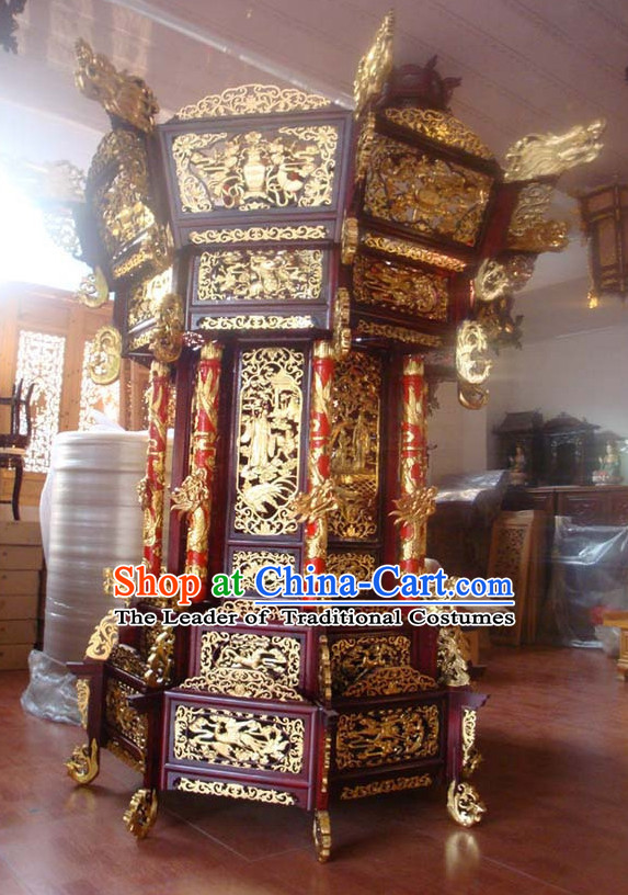 Golden Dragon Chinese Classical Handmade and Carved Emperor Living Room Hanging Palace Lantern
