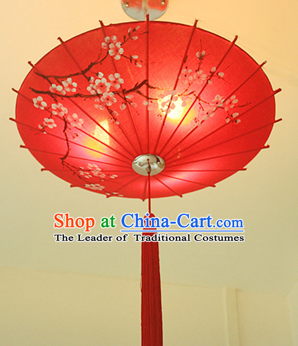 Chinese Classical Handmade and Carved Hanging Umbrella Palace Lantern