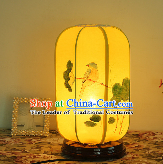 Chinese Classical Handmade Silk Desk Palace Lantern