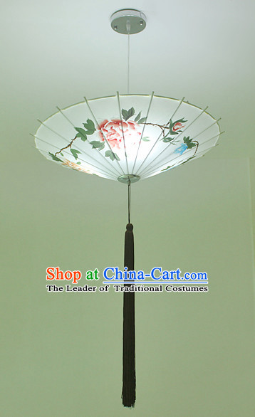 Chinese Classical Handmade Silk Hanging Umbrella Palace Lantern