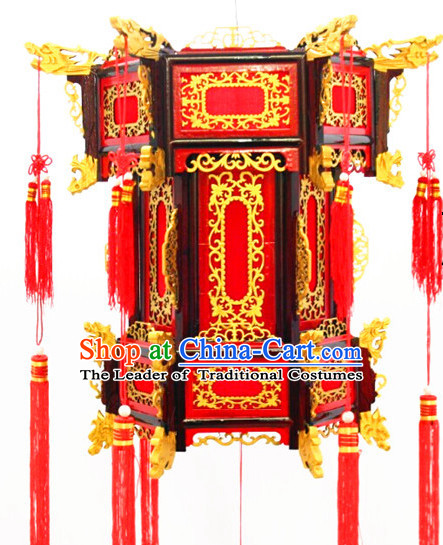Gold Chinese Classical Hanging Palace Lantern