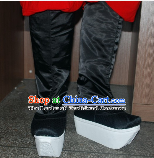 Ancient Chinese Black Offiical Boots Shoes