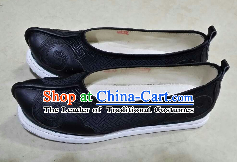 Ancient Chinese Black Hanfu Shoes
