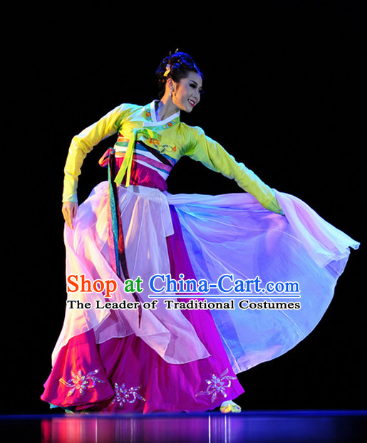 Traditional Korean Solo Dance Costumes for Women