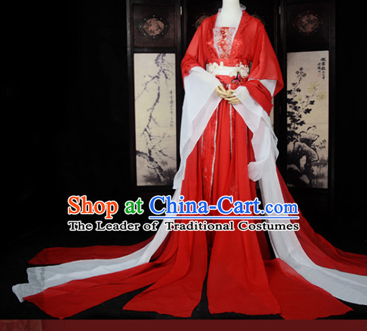 Traditional Chinese Classical Red White Bridal Wedding Dresses for Women