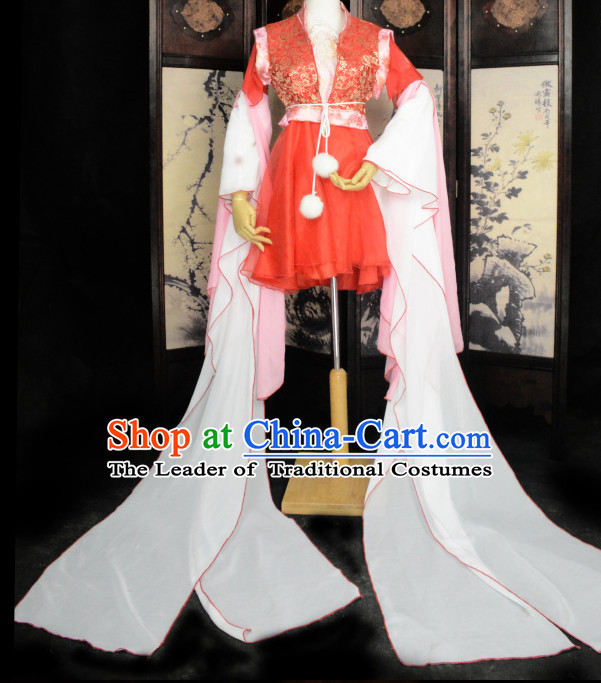 Long Sleeves Ancient Chinese Classical Dance Costume Complete Set for Women or Girls