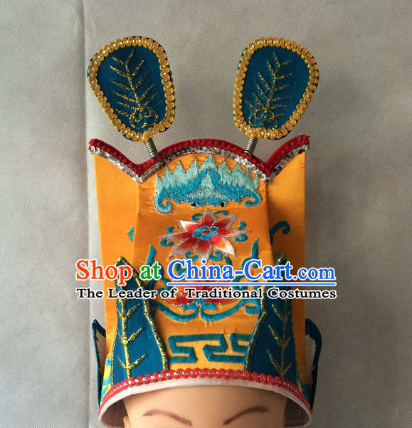 Traditional Chinese Classica Embroidered Emperor Hat