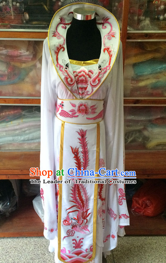 Ancient Chinese Opera Embroidered Empress Princess Queen Costumes Complete Set for Women