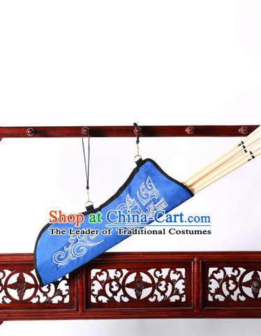 Chinese Traditinoal Handmade Arrow Bags Hanfu Props Decorations