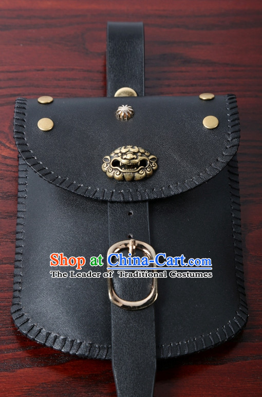 Chinese Ancient Handmade Leather Bags