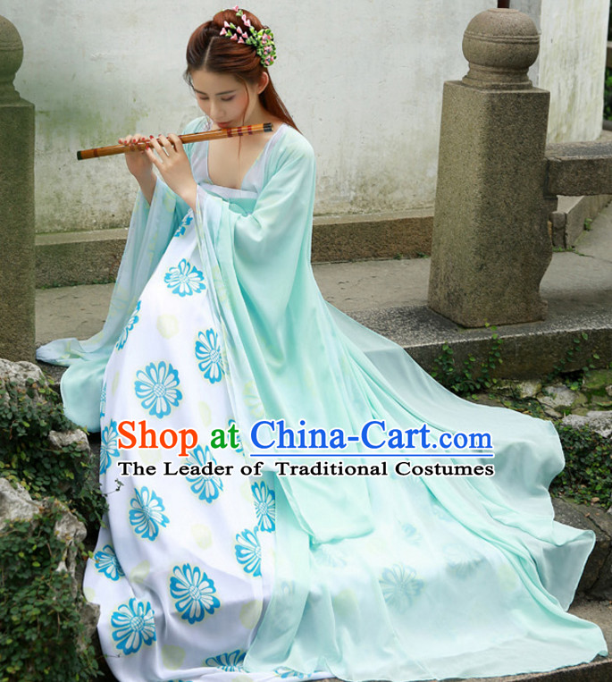 Chinese Classical Tang Dyansty Wear and Hair Jewelry for Kids