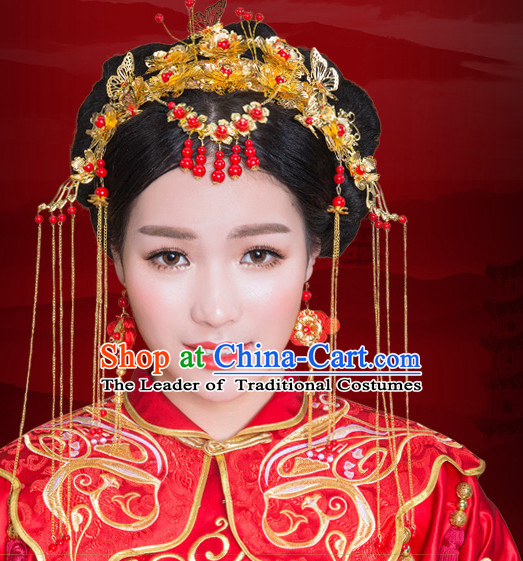 Traditional Chinese Brides Wedding Hair Jewelry