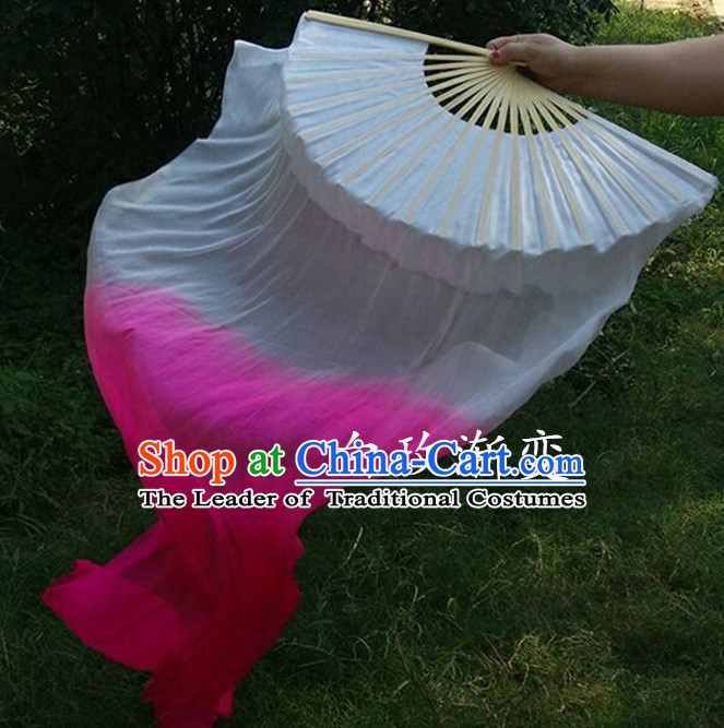1.5 Meters Long Color Transition Silk Dancing Fans