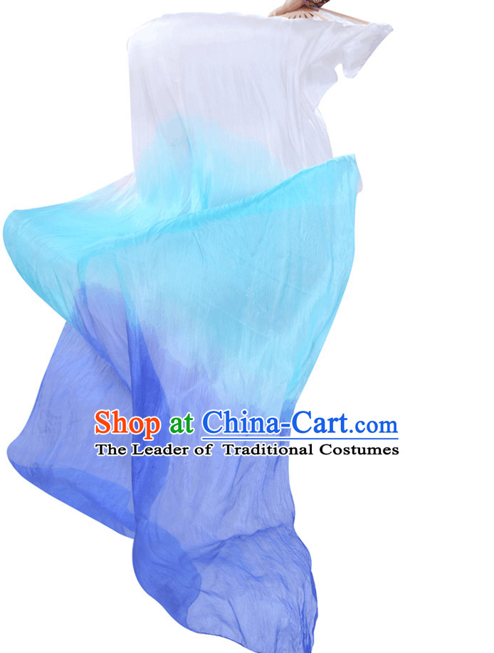 1.5 Meters Long Color Transition Silk Dancing Streamers