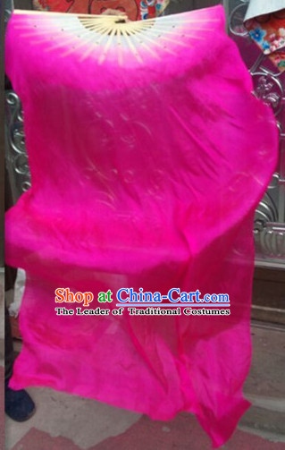 1.5 Meters Long Pink Silk Dancing Fan