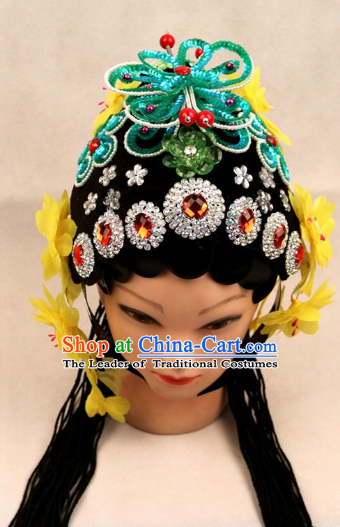 Chinese Opera Hair Accessories Headwear Headdress Hair Accessory Wig Set for Women or Girls