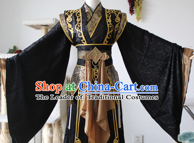 Chinese Ancient Emperor Prince Costume Complete Set for Adults Kids Men Boys
