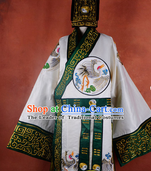 the Eight Immortals Chinese Ancient Legend Lv Dongbin Costume and Hat Complete Set for Adults Kids Men Boys
