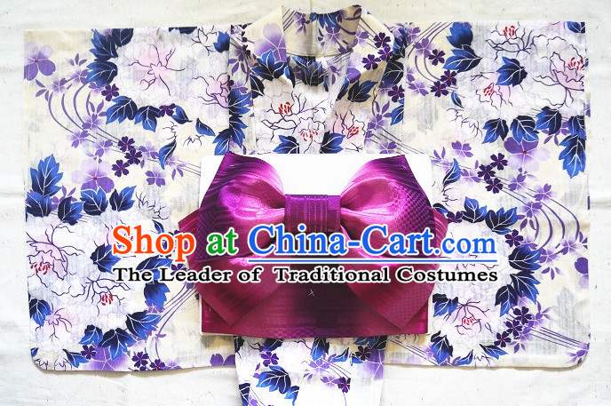 Traditional Authentic Japanese Kimonos Kimono Dress Asian Fashion Furisode Yukata Clothing Robe online Complete Set for Women