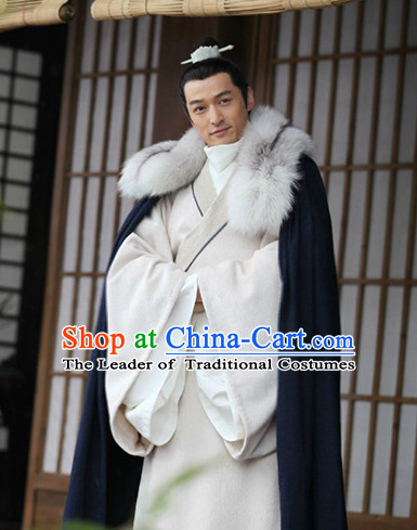 Nirvana in Fire TV Drama Hero Costumes Superhero Hanfu Clothing Complete Set for Men