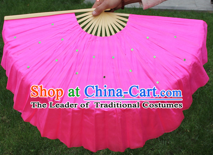 Traditional Chinese Pink Dance Fan