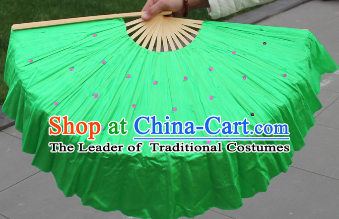 Traditional Chinese Green Dance Fan