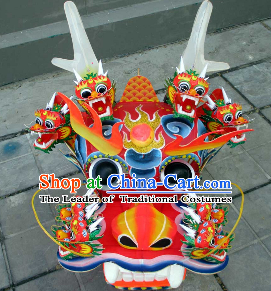 Handmade Nine Dragon Heads Giant Dragon Head for Display and Collection