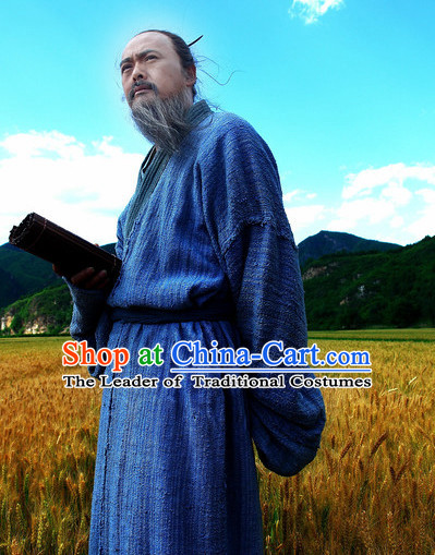 Chinese Ancient Wise Confucius Costume Clothes Complete Set for Men