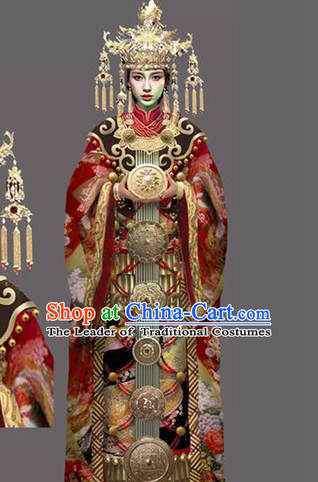 Chinese Ancient Imperial Empress Stage Costumes