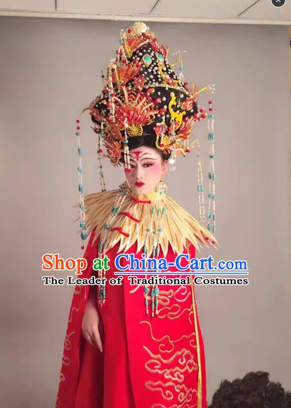 Asian Ancient Queen Imperial Long Robes Clothing