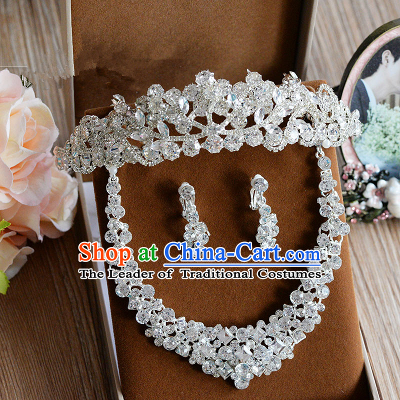 Traditional Jewelry Accessories, Princess Bride Royal Crown, Wedding Hair Accessories, Baroco Style Crystal Headwear, Necklaces, Earrings for Women
