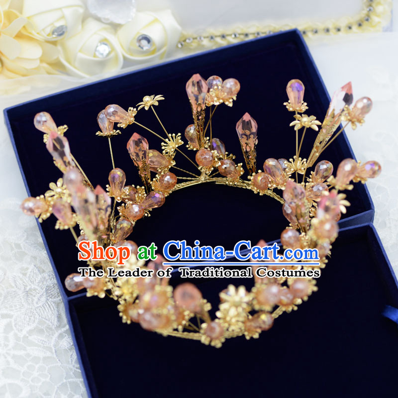 Traditional Jewelry Accessories, Princess Bride Royal Crown, Wedding Hair Accessories, Baroco Style Flower Crystal Headwear for Women