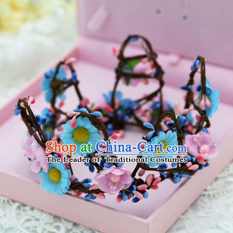 Traditional Jewelry Accessories, Princess, Bride Royal Crown, Wedding Hair Accessories, Baroco Style Flower Headwear for Women
