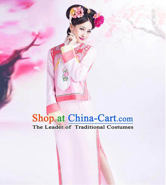 Ancient Chinese Palace Princess Costumes Complete Set, Qing Dynasty Ancient Palace Man Nationality Clothing, Dress Suits For Women