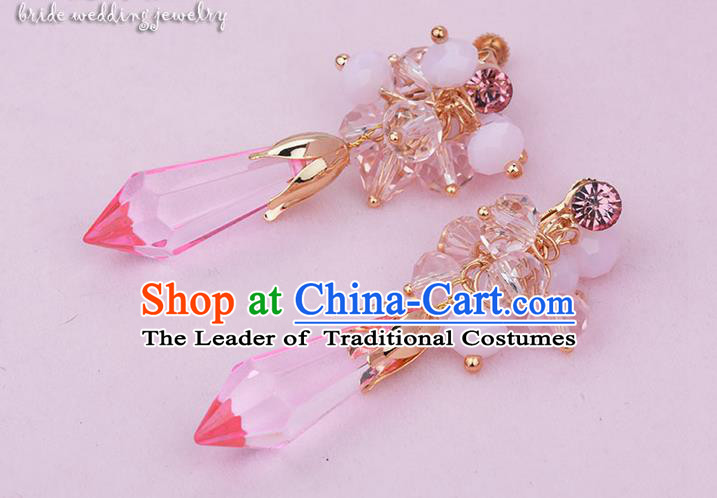 Traditional Jewelry Accessories, Princess Bride Earring, Wedding Accessories, Baroco Style Crystal Earrings for Women