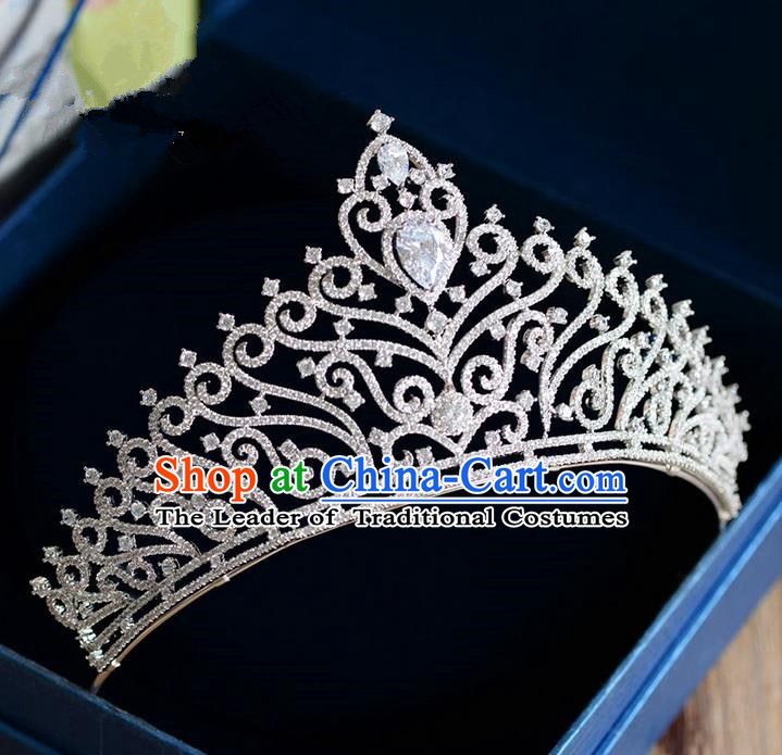 Traditional Jewelry Accessories, Palace Princess Bride Royal Crown, Wedding Hair Accessories, Baroco Style Crystal Headwear for Women