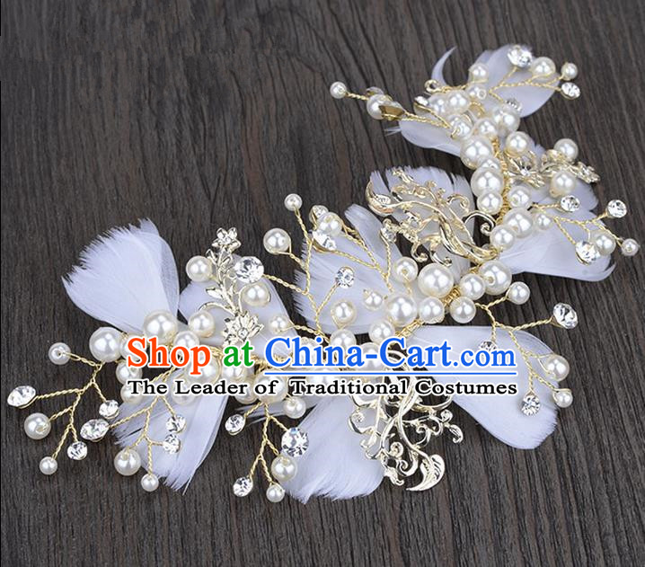 Traditional Jewelry Accessories, Princess Wedding Hair Accessories, Bride Wedding Hair Accessories, Baroco Style Crystal for Women