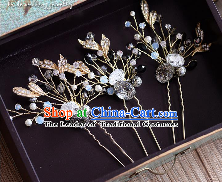 Traditional Jewelry Accessories, Princess Wedding Hair Accessories, Bride Wedding Hair Accessories, Baroco Style Flowers Crystal Headwear for Women